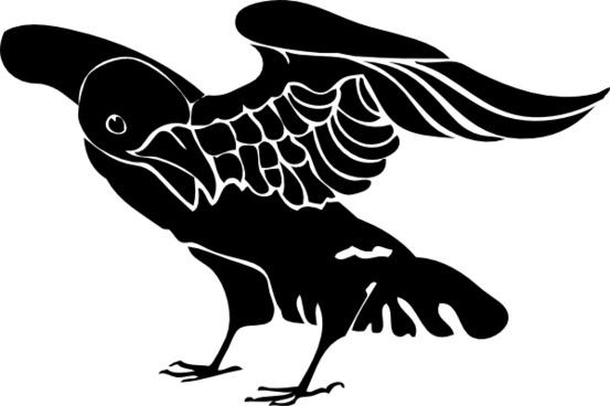 Black Crow clip art