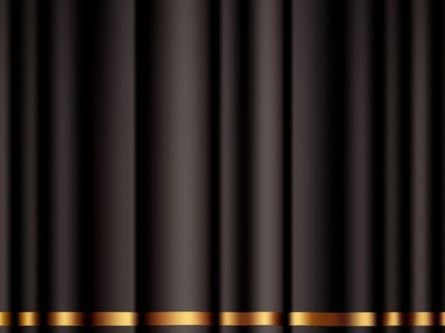 black curtain background modern 3d design