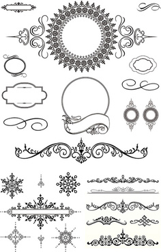 black decorative border vector