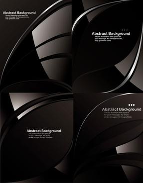 black dynamic lines background