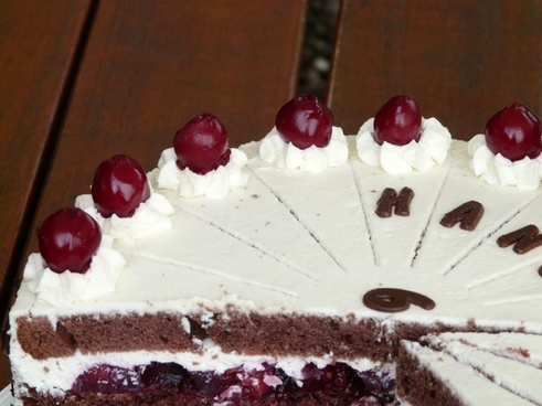 black forest cake cherries cream