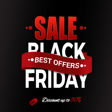 black friday banner curved design on black background
