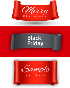black friday banner design on christmas background