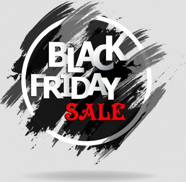 black friday banner grunge black painting decoration