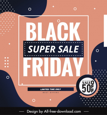 black friday banner template abstract simple decor