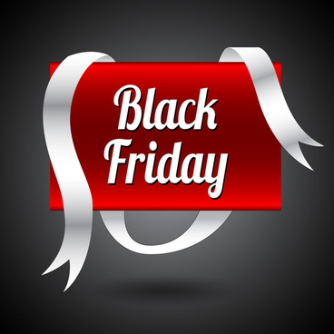 black friday banner with white and red color