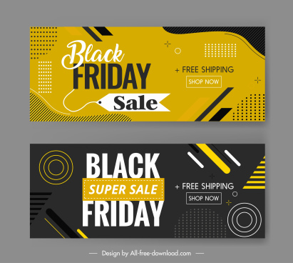 black friday poster templates dynamic dark abstract decor