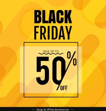 black friday sale banner bright yellow flat decor