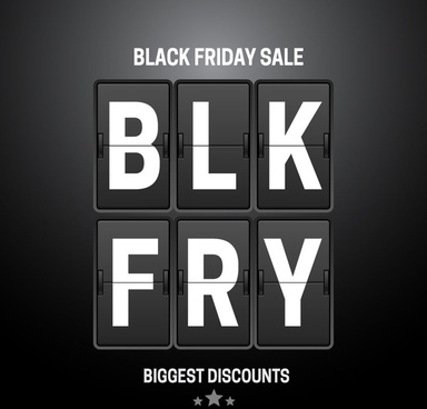 black friday sale banner design with flip clock