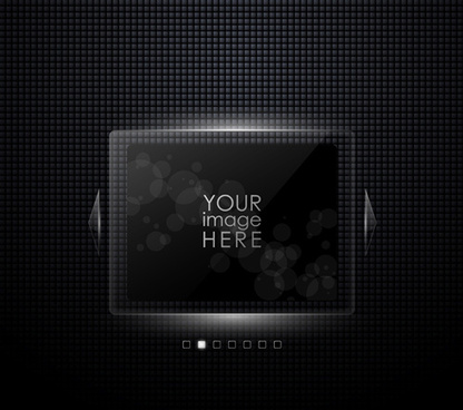 black glass frames vector background