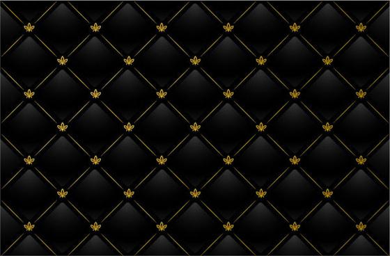 black grid background vector