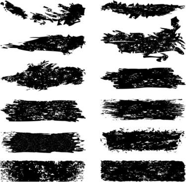 black grunge elements illustration vector