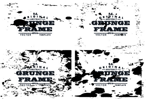black grunge frame background graphics vector