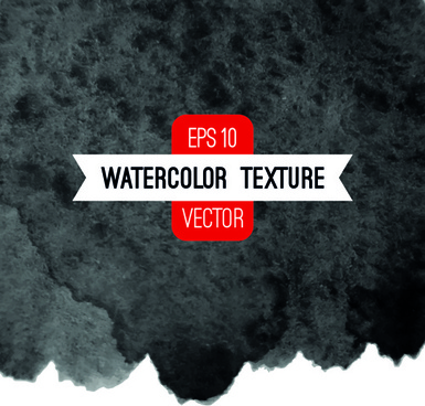 black ink water background set vector