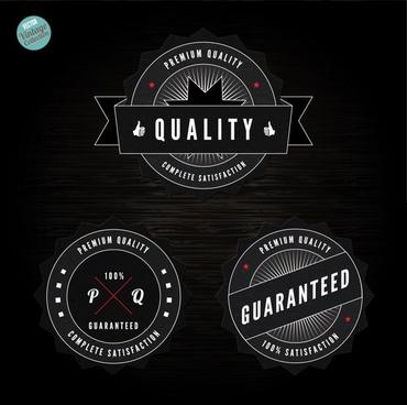 black label badge vector
