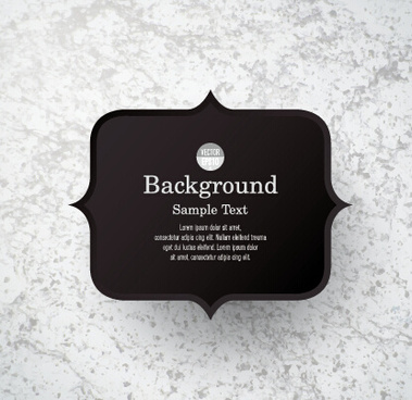 black label with background vector