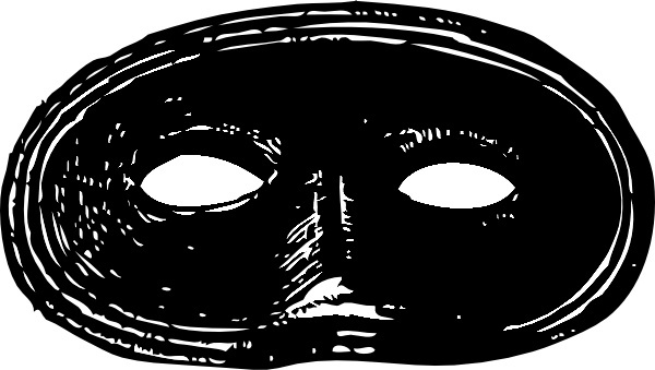 Black Mask clip art