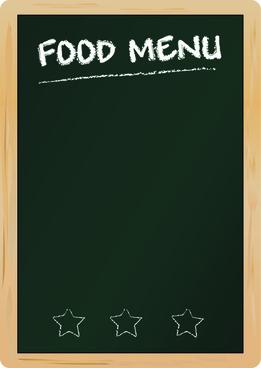 black menu vector background