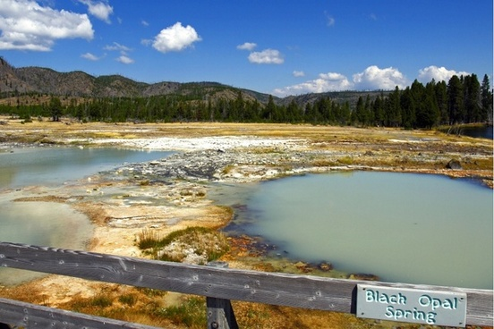 black opal spring yellowstone national park wyoming