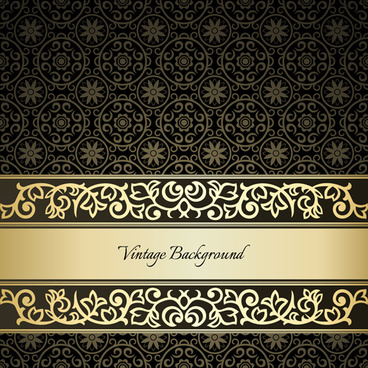 Black Pattern Vintage Backgrounds Vector
