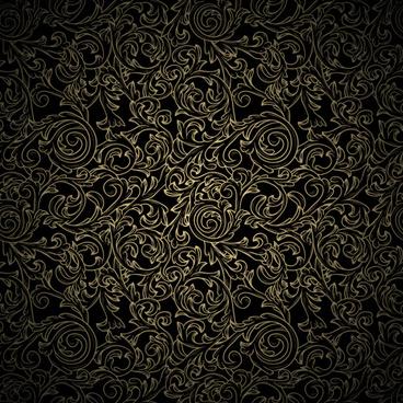 black pattern vintage backgrounds vector