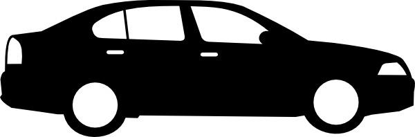 Black Sedan Car clip art