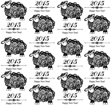 black sheep15 new year seamless background