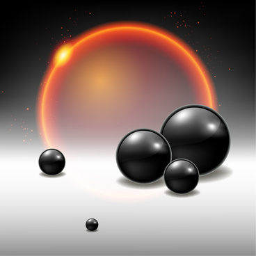 black sphere space background