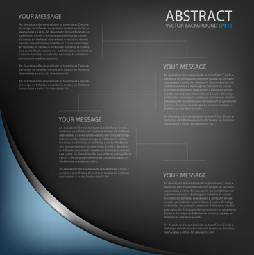 black style business template background
