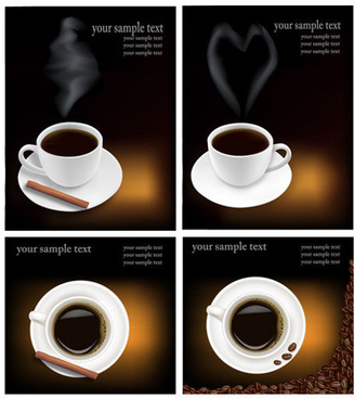 black style coffee art vector