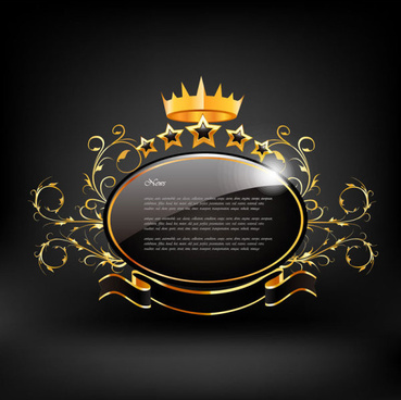 black style exquisite label free vector