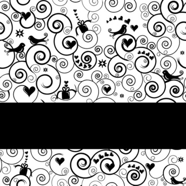 black style floral background art vector