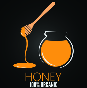 black style honey poster vector