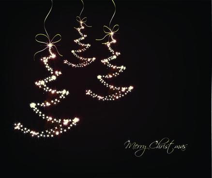black style merry christmas cards vector
