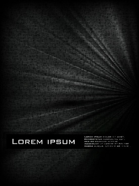 black texture cover 03 vector