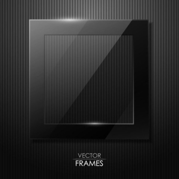 black texture frame design vector