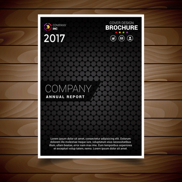 black textured brochure design template