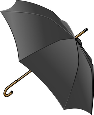 Black Umbrella clip art