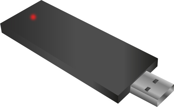 black usb memory stick