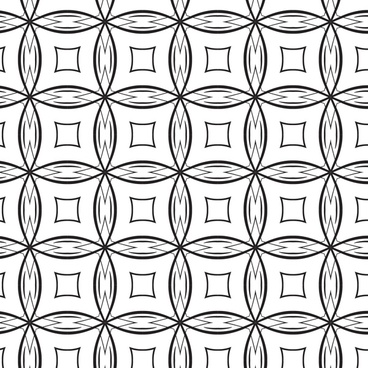 black white pattern design with symmetric rounds