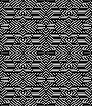 black with white abstract seamless pattern vector set