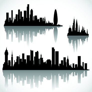 black with white city building design vector