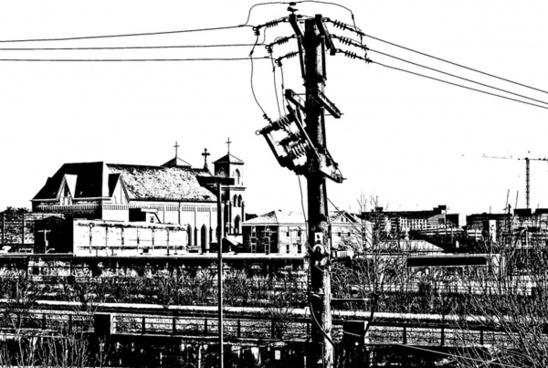 blackandwhite urban scene