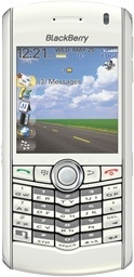 BlackBerry Pearl white
