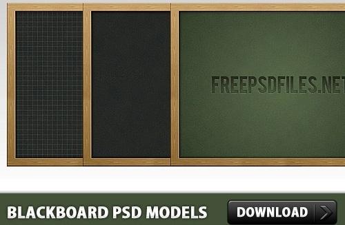 Blackboard Free PSD Models