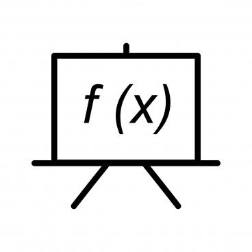 blackboard line black icon