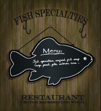 blackboard restaurant menu on the wall vector