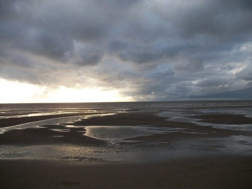 blackpool beach storm