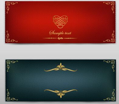 blank banner ornate decor vector