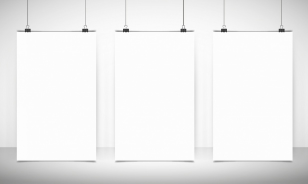 blank banner templates white vertical mockup design